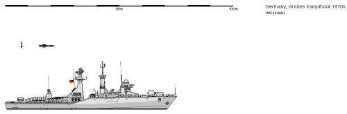 D FS Klasse 130 Grosses Kampfboot AU