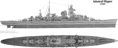 DKM Admiral Hipper (Heavy Cruiser) (1942)