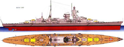 DKM Blucher (Heavy Cruiser) (1940)