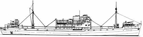 DKM Kiebitz ex RN Ramb III [Auxiliary Cruiser] (1944)