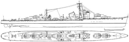 IJN Akizuki [Destroyer] (1942)