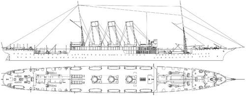 IJN Anegawa Maru (ex-Moskva III Ex-Angara Dobroflot Hospital Ship) (1905)