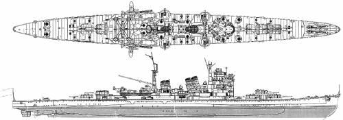 IJN Haguro (Heavy Cruiser) (1944)