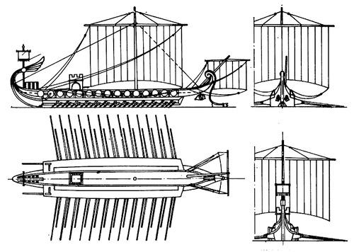 Bireme Ship