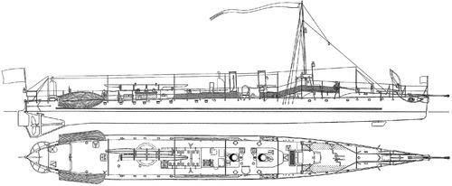 Bulgaria - Drazki (Torpedo Ship) (1907)