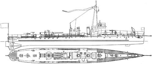 Bulgaria - Drazki (Torpedo Ship) (1936)