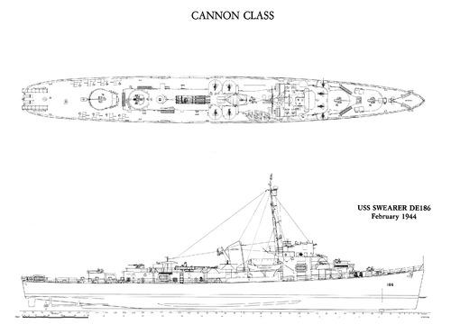 Cannon class Destroyer Escort (1944)