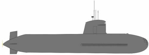 Chile - O'Higgins SS28 (Scorpene class Submarine)