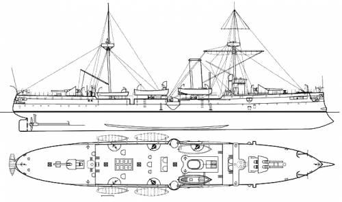 China - Chin Yuen (Protected Cruiser) (1884)