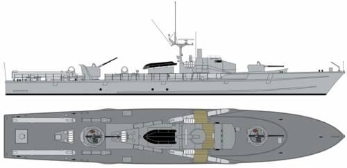 FGS Kormoran P6077 1975 [Fast Attack Boat]