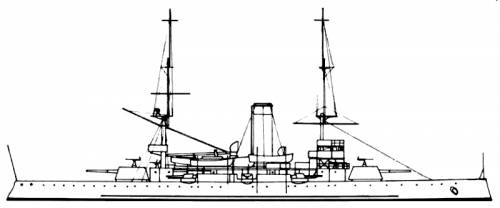 KNM Tordenskjold (Battleship) - Norway (1898)