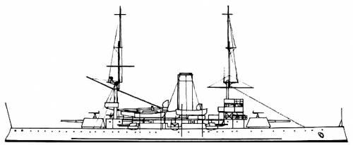 NKM Harald Haarfagre (Coastal Defense Ship) - Norway (1898)