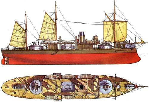 Admiral Lazarev 1867 (Monitor)