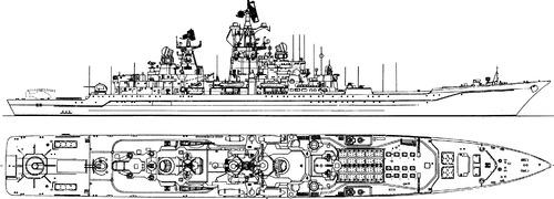 FRS Admiral Lazarev (Project 1144 Orlan Battlecruiser ex USSR Frunze)