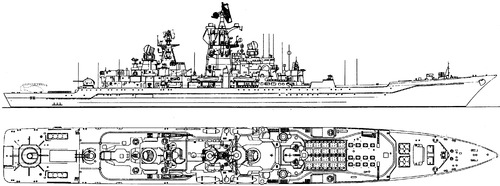 FRS Admiral Nakhimov (Project 1144 Orlan Battlecruiser ex USSR Kalinin)