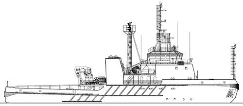 FRS Project 2203.0 Okhotsk Tug Boat