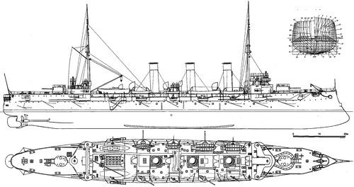 Oleg (Protected Cruiser) (1904)