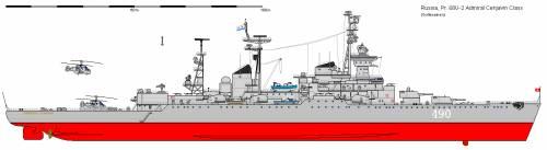 R CL 0068U-2 Sverdlov Admiral Cenjavin