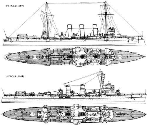 HSwMS Fylgia (Armoured Cruiser)