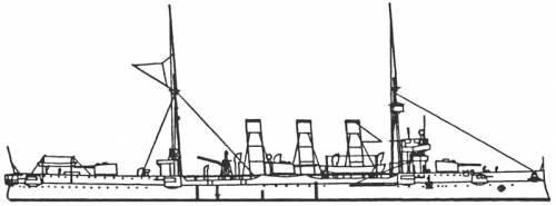 HSWMS Fylgia (Battleship) - Sweden (1905)