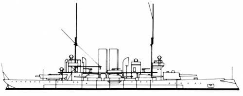 HSWMS Gota (Battleship) - Sweden (1891)