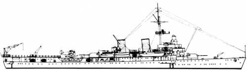 HSWMS Gotland (Cruiser) - Sweden (1934)