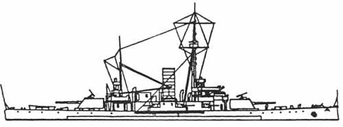 HSWMS Thor (Battleship) - Sweden (1899)