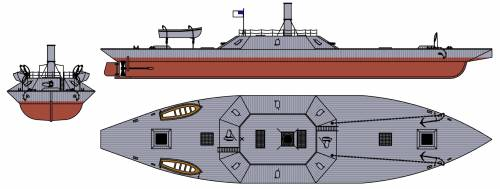 CSS Texas - (Ironclad) (1865)