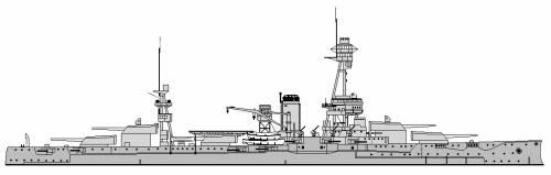 US BB-35 Texas Line Drawing (1933)