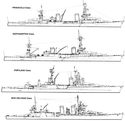 US Navy WWII Heavy Cruisers