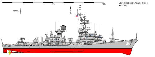 USA DDG-2 Charles F. Adams