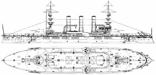 USS BB-16 New Jersey (Battleship) (1906)