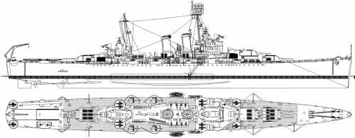 USS CA-45 Wichita [Heavy Cruiser] (1945)