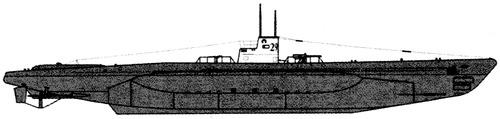 DKM Type VIIA U-29 1939 (Submarine)