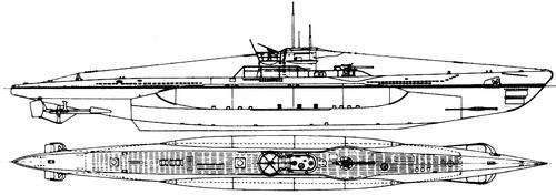 DKM U-Boat Type VIIC (Submarine)
