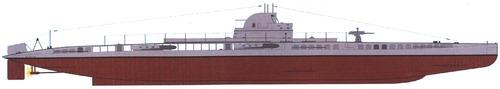 SMS U-14 1916 ex NMF Curie (Submarine)