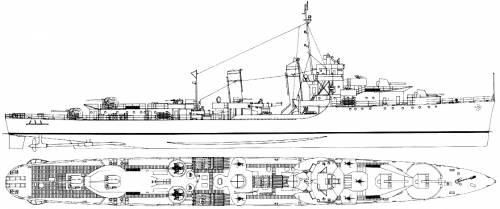 USS DD-366 Drayton (Destroyer) (1944)