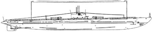 USS SM-1 Argonaut 1928 {Submarine)