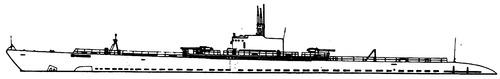 USS SS-168 Nautilus 1930 (Submarine)