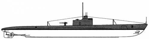 USS SS-170 Cachalot (1940)