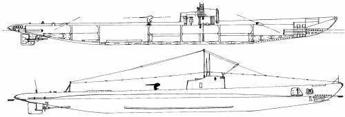USS SS-172 Porpoise (1942)