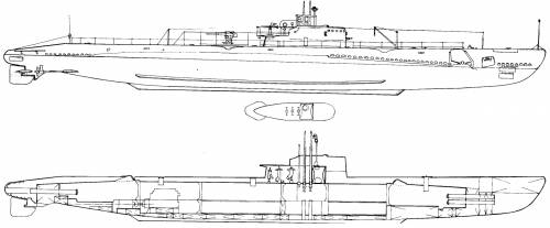 USS SS-204 Mackerel (1942)