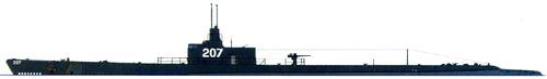 USS SS-207 Grampus (Submarine) (1943)