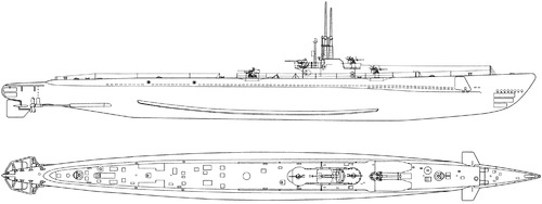 USS SS-212 Gato 1943 [Submarine]