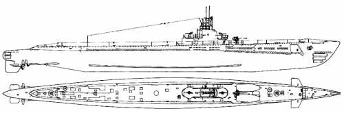USS SS-212 Gato (1944)