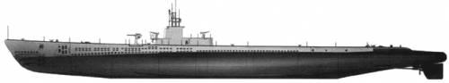 USS SS-212 Gato (Submarine) (1944)