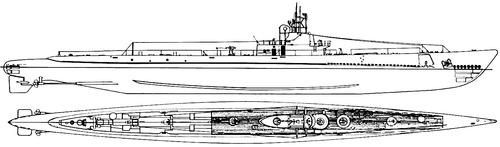 USS SS-213 Greenling 1943 [Submarine]