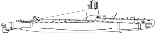 USS SS-394 Razorback 1944 [Submarine]