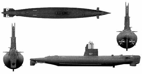 USS SS-567 Gudgeon [Submarine]