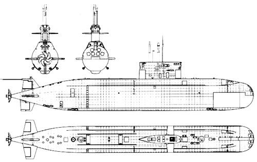 USSR Amur-class Submarine
